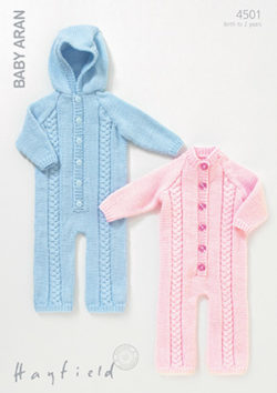 Hayfield Baby Aran Pattern 4501