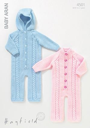 Hayfield Baby Aran Pattern 4501