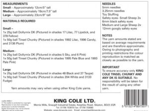 9080 King Cole Instructions
