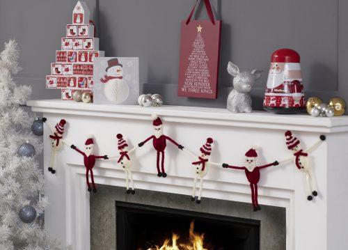 Santa And Snowman Garland