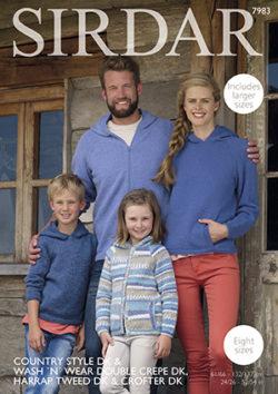 Sirdar Family Hats Crofter Knitting Pattern 9189  DK Free UK P/&P Sirda...