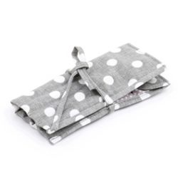 Grey Linen Knitting Pin Roll