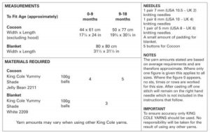 King Cole 4534 Instructions