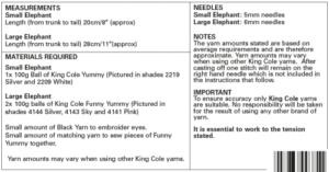 King Cole 9109 Instructions