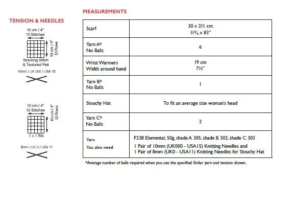 Sirdar 10021 Instructions