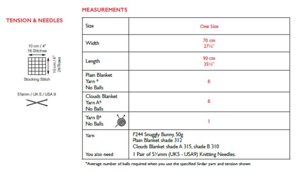 Sirdar 5308 Instructions