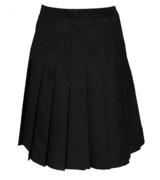 Black Stitch Down Pleat Skirt