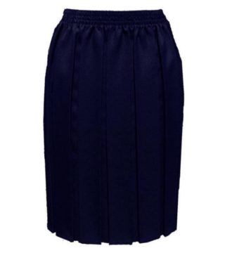 Navy Box Pleat