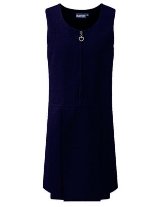 Navy Heart Pinafore