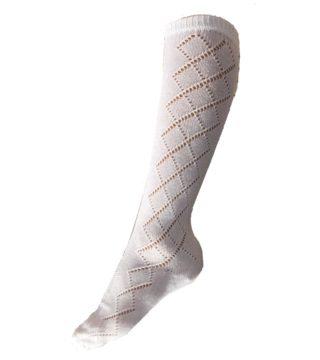 White Patterned Socks