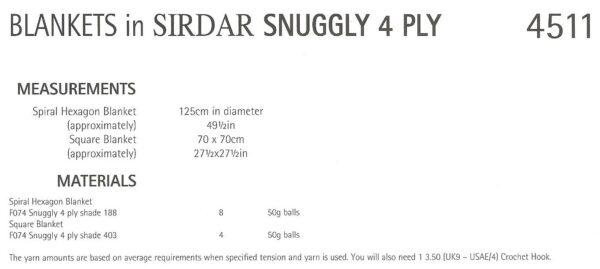 Sirdar 4511 Instructions