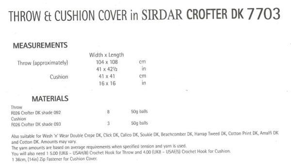 Sirdar 7703 Instuctions