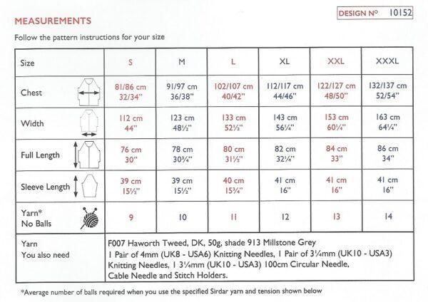Sirdar 10152 Instructions